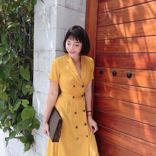 Váy vest thô lụa nhật