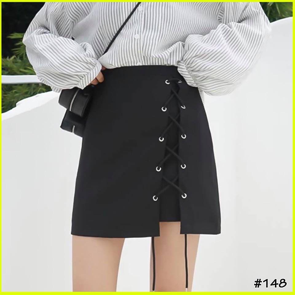 [Hàng Xuất Dư] Chân Váy Nữ Đan Dây Váy Ngắn Tua Cạp Cao sexy