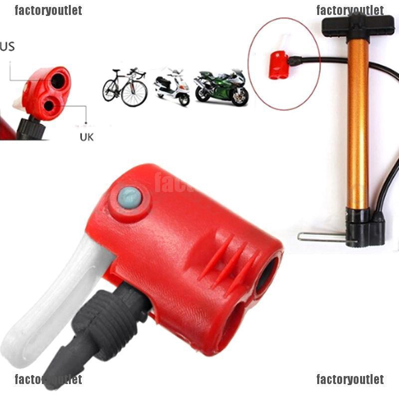 FYVN cycle tyre tube replacement dual head air pump adapter valve spur
