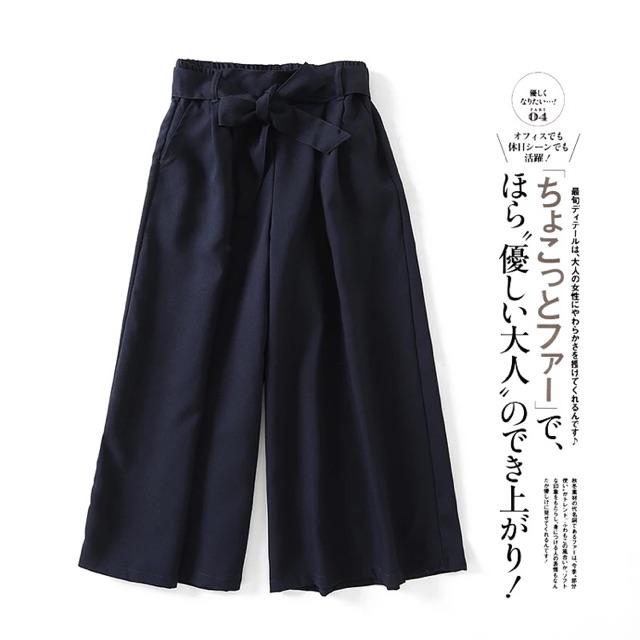 Quần culottes kèm đai nơ xuất Nhật