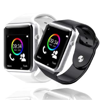 [Mã ELCB1111 giảm 20% đơn 50K] A1 Smart Watch Waterproof Bluetooth GSM SIM Phone For iPhone Android