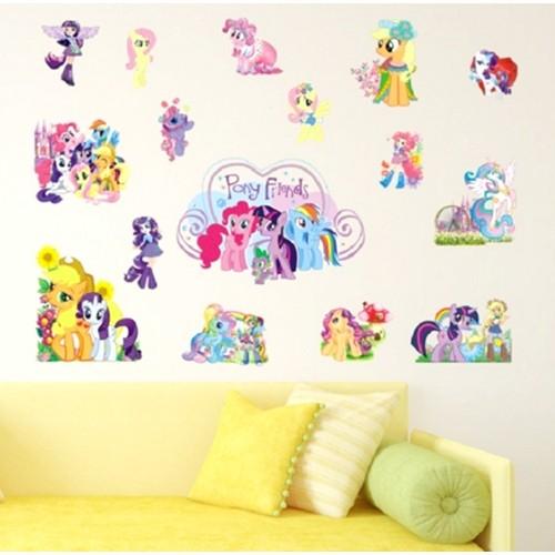 Decal dán hình các bạn ngựa Little Pony