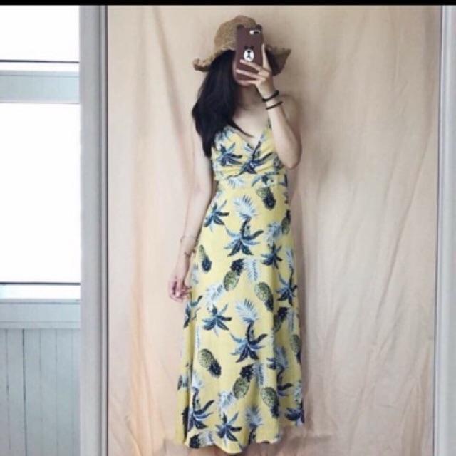Váy maxi quả dứa