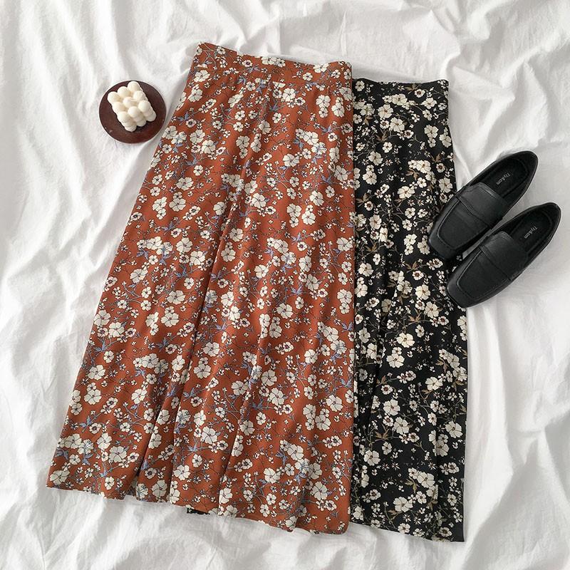 [ORDER] [ORDER] Chân váy xòe hoa nhí dáng dài ulzzang ver3 k1627