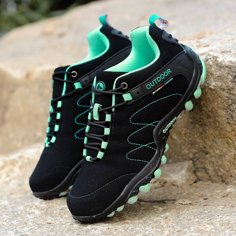 Ready Stock Men Soft Leather Breathable Hiking Shoes Summer Outdoor Climbing Camping PL3398