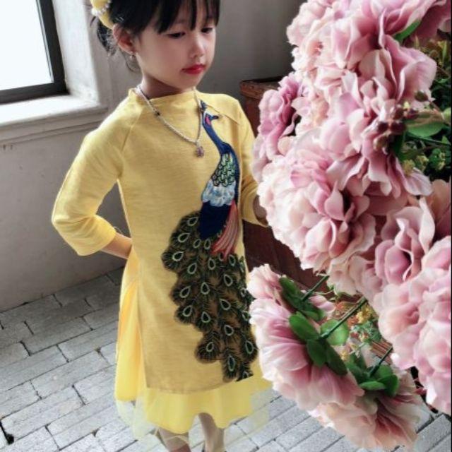 Bộ áo dài cách tân cho bé gái