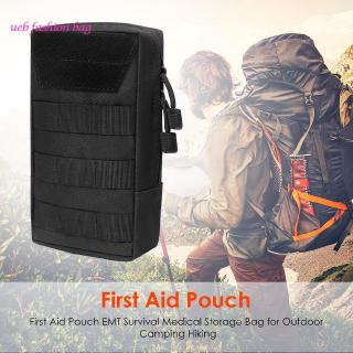 [Waist Bag]First Aid Pouch EMT Survival Medical Storage Bag for Outdoor Camping Hiking