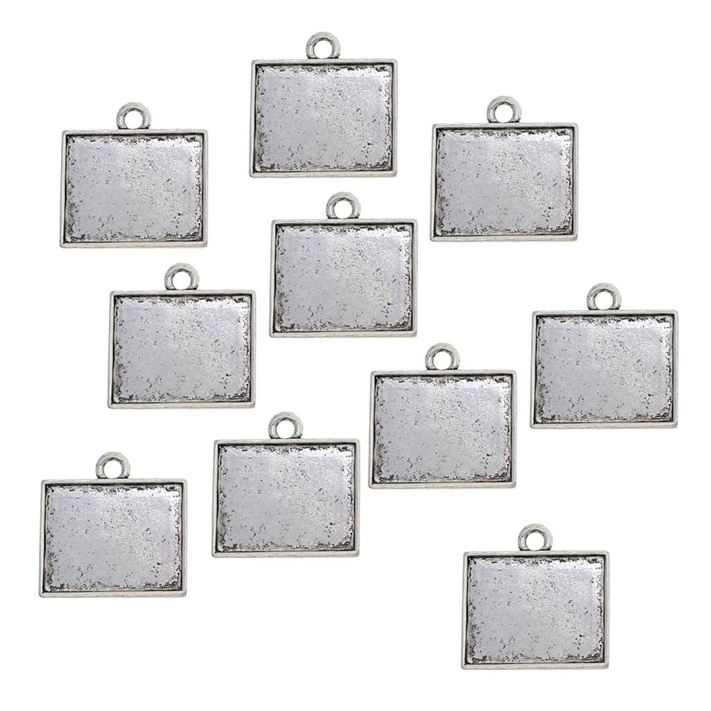 Bộ 10 khuôn mặt dây chuyền bạc kiểu dáng cổ điển