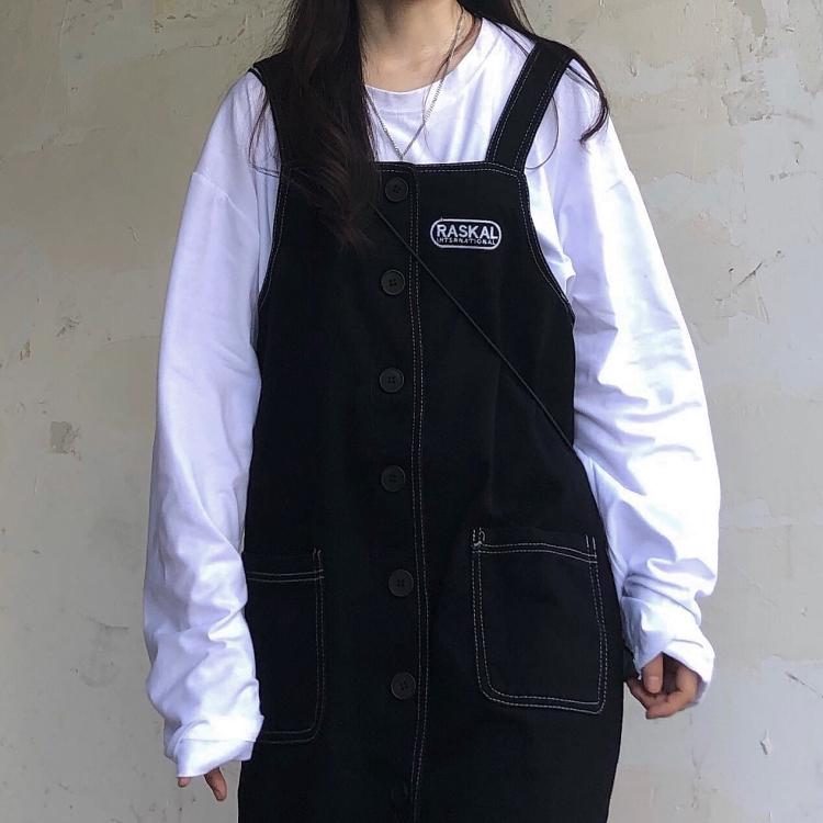 Chân Váy Chữ A Thêu Chữ Phong Cách Hàn Quốc Cho Nữ