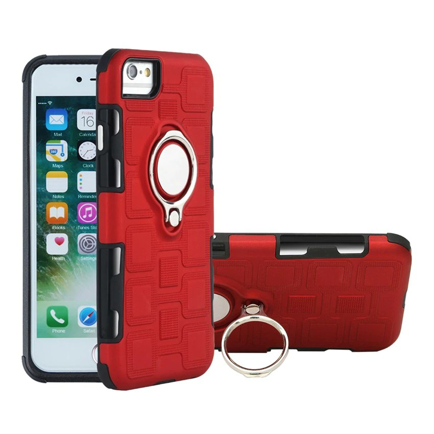 For iphone 6 plus 6s plus PC+TPU Phone Case Car Magnetic Ring Cover