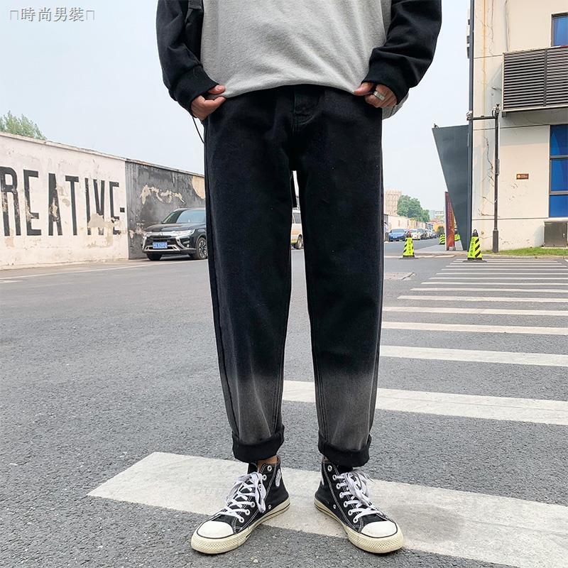 Quần Jeans Dài Ống Rộng Thời Trang Cá Tính Cho Nam