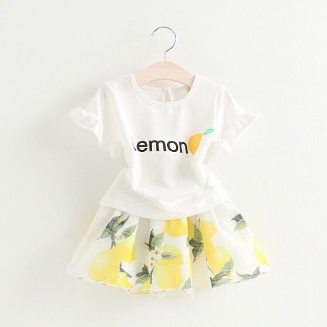 [SALE HÀNG HÈ trả giá 150k] Set áo phông + chân váy bé gái