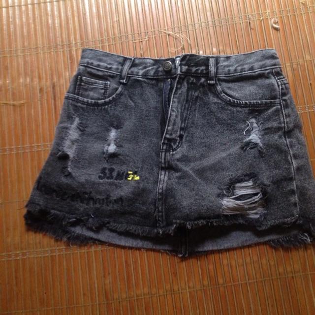chân váy bò jean