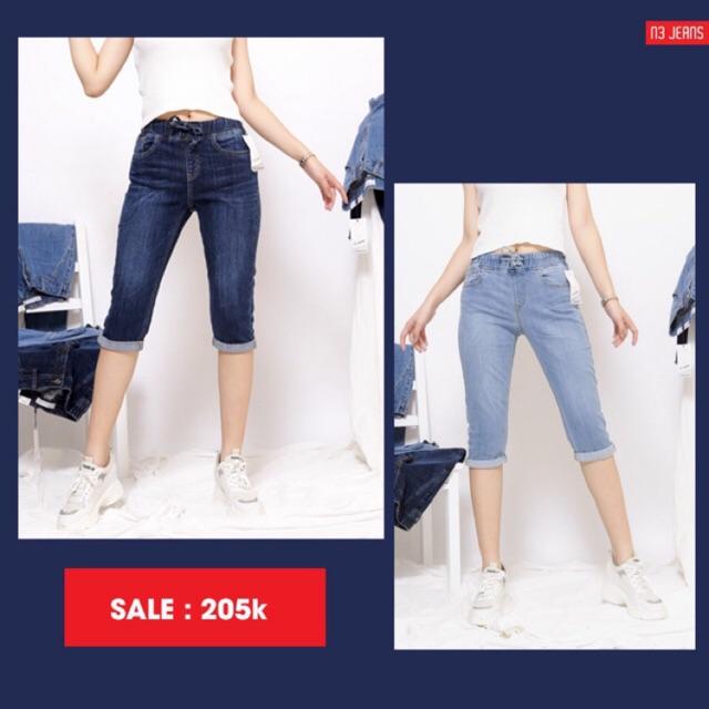 Quần jeans cạp chun lửng (mã 85)