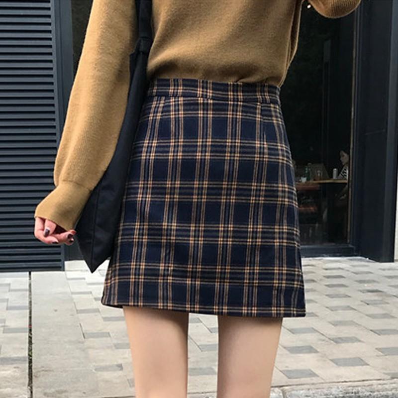 [WACB25 - giảm 25k đơn 99k]Chân váy hoạ tiết sọc ca-rô phong cách Hàn Quốc năng động