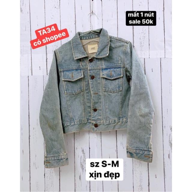 áo khoác jean lỗi nhẹ size S-M.TA34