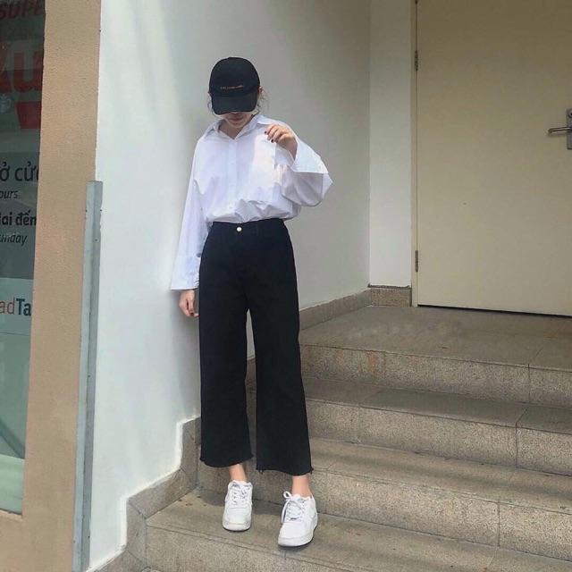 Quần jeans quảng châu ống rộng