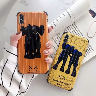 iPhone XS Max XR 10 X 7 8 Plus 6 6s Phone Case Luggage design cartoon kaws doll pattern case