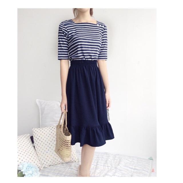 709161777 - Combo áo cotton tay lỡ và chân váy thiết kế của betterista