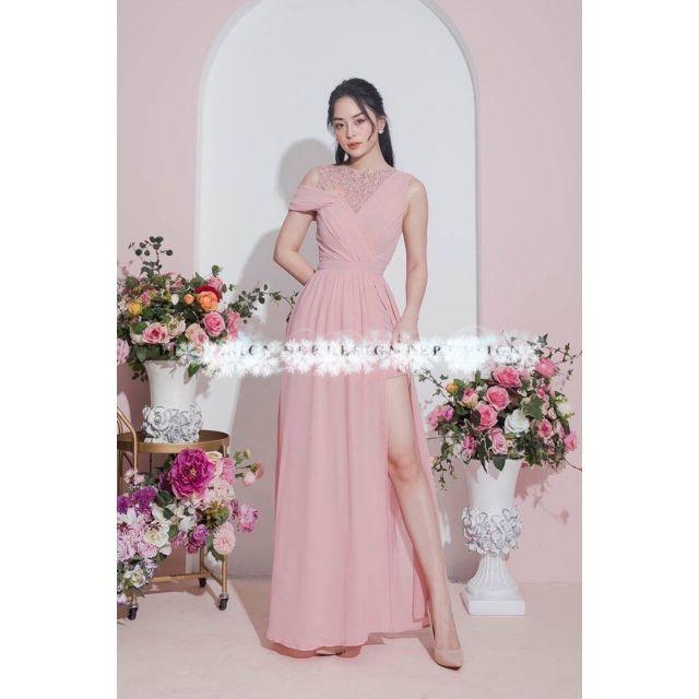 [Nhập mã MAIH345K giảm ngay 15k-đơn 345k] Đầm dạ hội xẻ cao - đầm dự tiệc