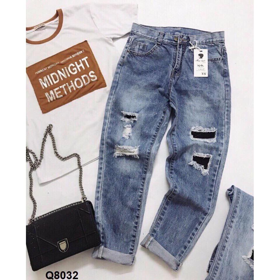 quần jeans baggy rách quảng châu