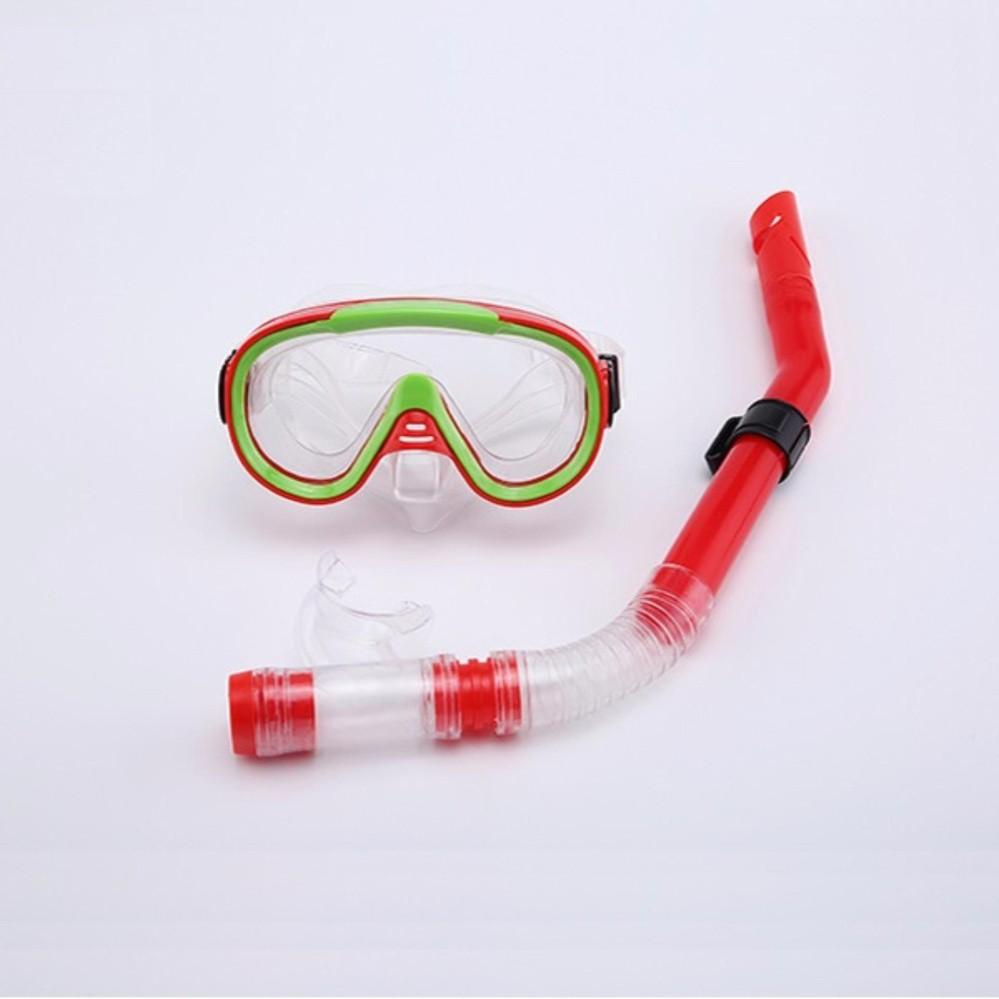 Kính lặn, mặt nạ lặn gồm Ống thở SPORT (trên 10 tuổi), chất liệu cao cấp SPORTY (Đỏ)