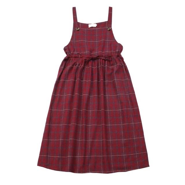 Váy yếm ulzzang đỏ xanh size s-m