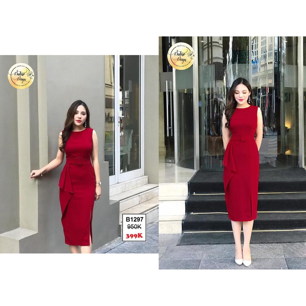 Váy đầm B1297 Đỏ - Hàng thiết kế