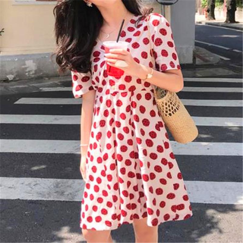 Chân Váy Voan Chấm Bi Xinh Xắn Theo Phong Cách Hàn Quốc 2020