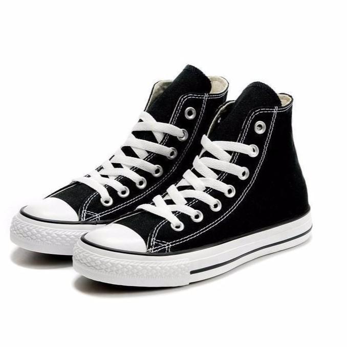 Giày Sneaker Cổ Cao Đen Nữ