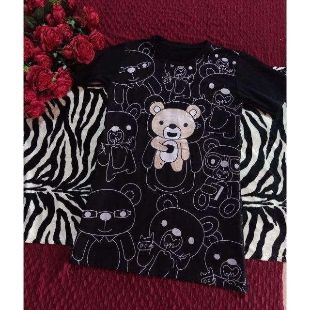 Thanh lý đầm đen gấu dáng suông