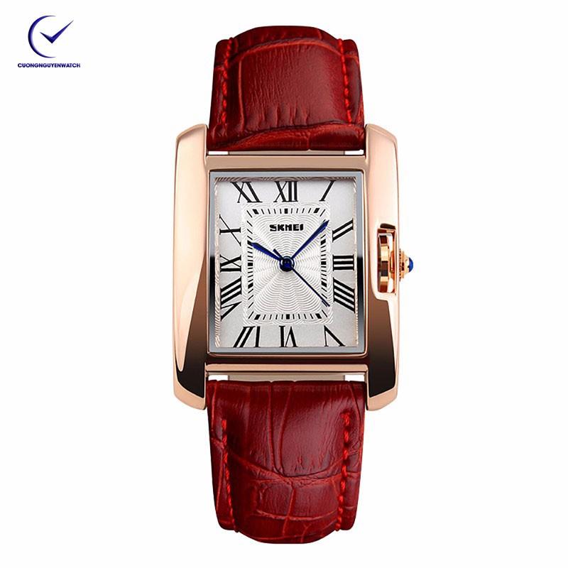 Đồng hồ nữ Skmei 1085CL dây da tạo phong cách trẻ trung- SK15 -(Đỏ)