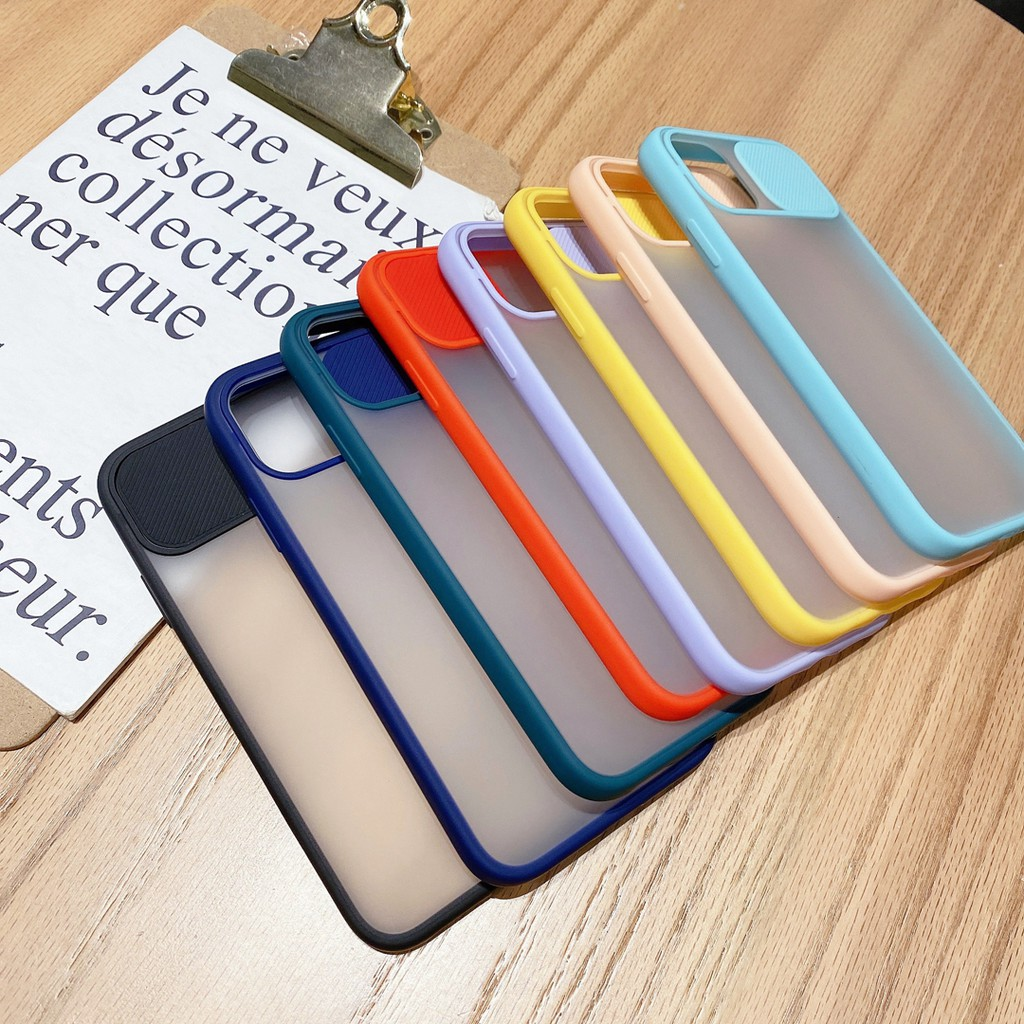 Nice Push window two in one case for Iphone 7 8 plus x xs max xr 11 pro max silicone protective cover