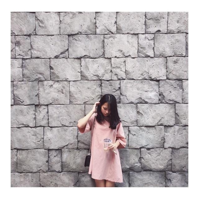 Váy nơ hồng