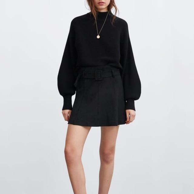 Chân váy da lộn Zara (auth)