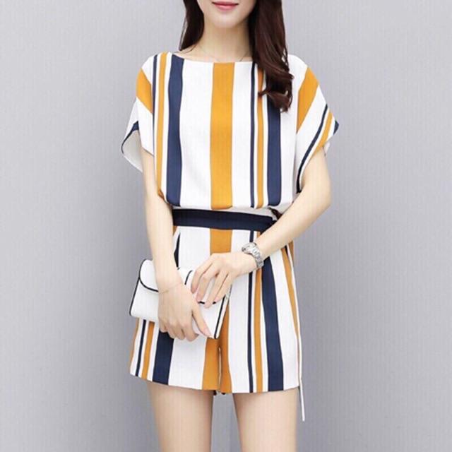Set bộ sọc quần short + áo dơi cá tính cao cấp Quảng Châu