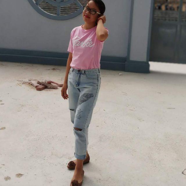 Sét quần jean áo thun cực xinh