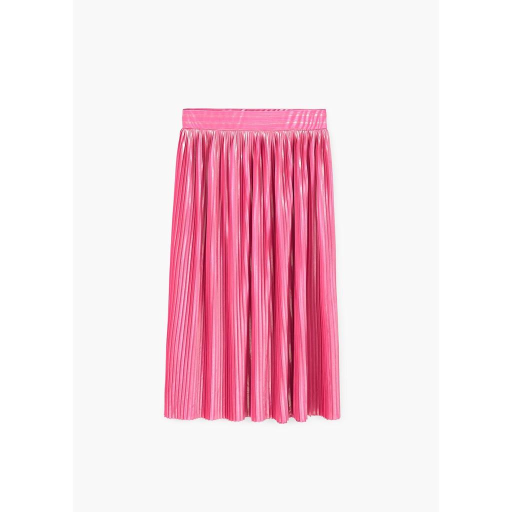 Chân váy Mango Nữ Metallic pleated - 81078815