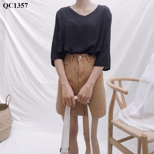 Chân váy jean chữ A (100% ảnh thật)