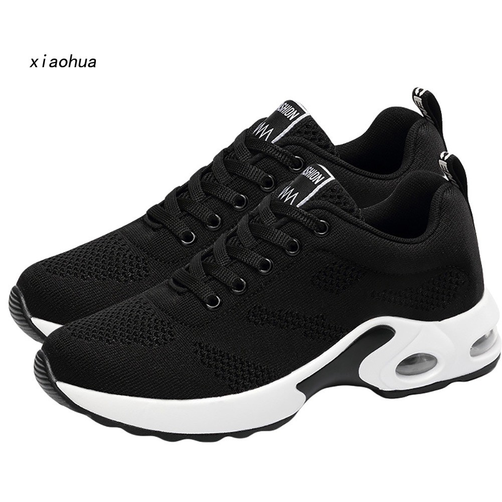 Hình ảnh XOHA Fashion Solid Color Sports Shoes Couple Breathable Mesh Air Cushion Sneakers