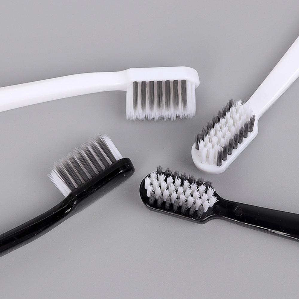 4pcs Novelty Bamboo Charcoal Toothbrush Black White Couple Soft Bristles Oral Care