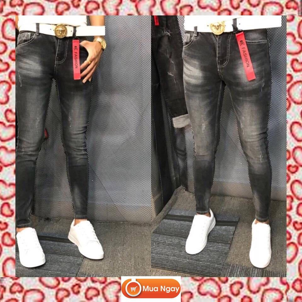 Quần Jean Nam Bụi Tphcm Đẹp Co Giãn,quần jean nam rách nhiều,quần jean nam rách gối,quần jean nam hàn quốc
