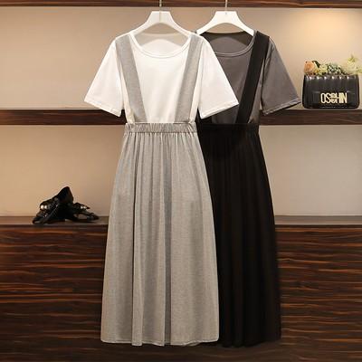 Set Áo Thun Tay Ngắn + Chân Váy Dài Thời Trang Cho Nữ