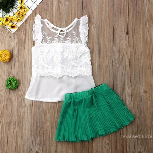 Set áo + chân váy dễ thương cho bé gái