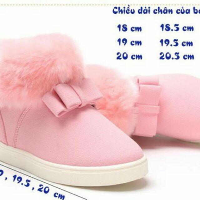 ShopeeholicFA - Giày boots phối lông cho bé