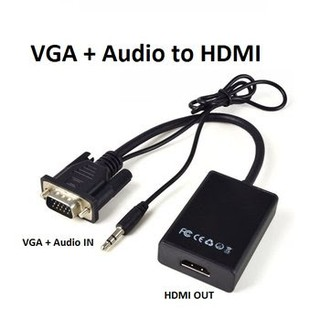 Cáp chuyển VGA sang HDMI có audio | VGA TO HDMI ADAPTER WITH AUDIO