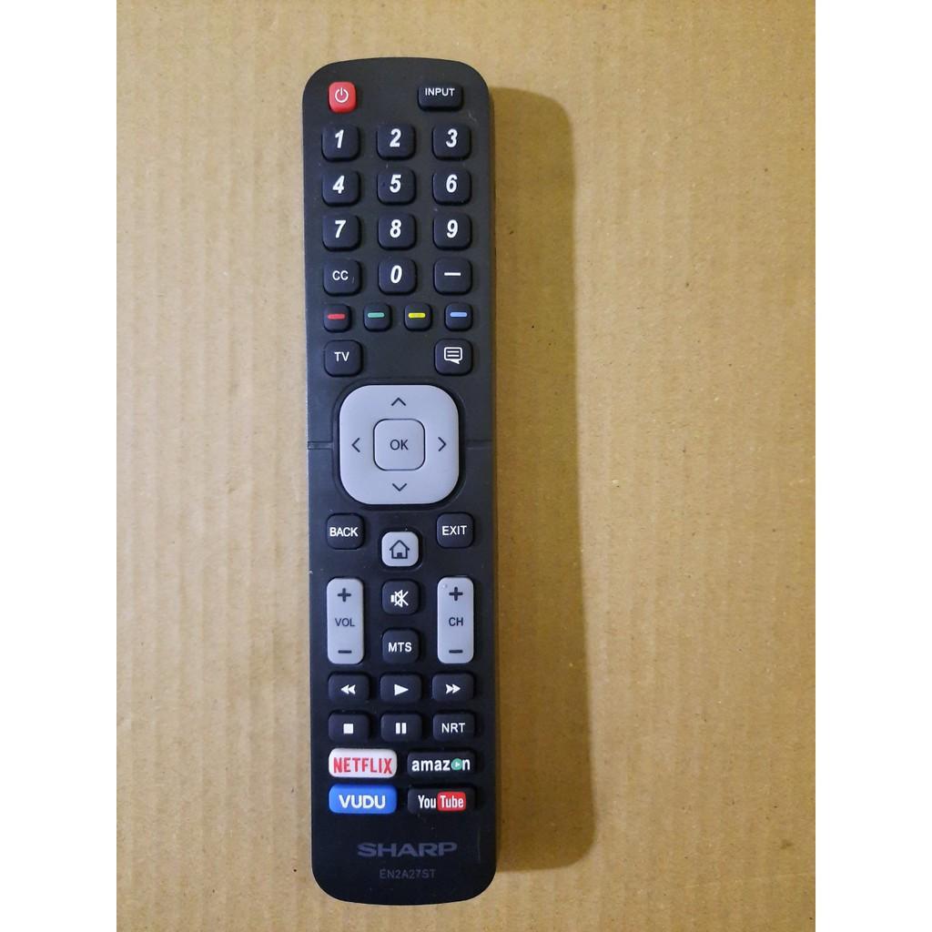 Điều khiển tivi Sharp EN2A27ST- Hàng mới chính hãng 100% Tặng kèm Pin!!!