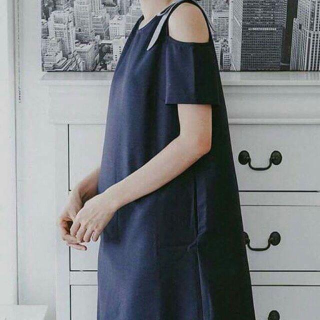 Đầm vai nơ