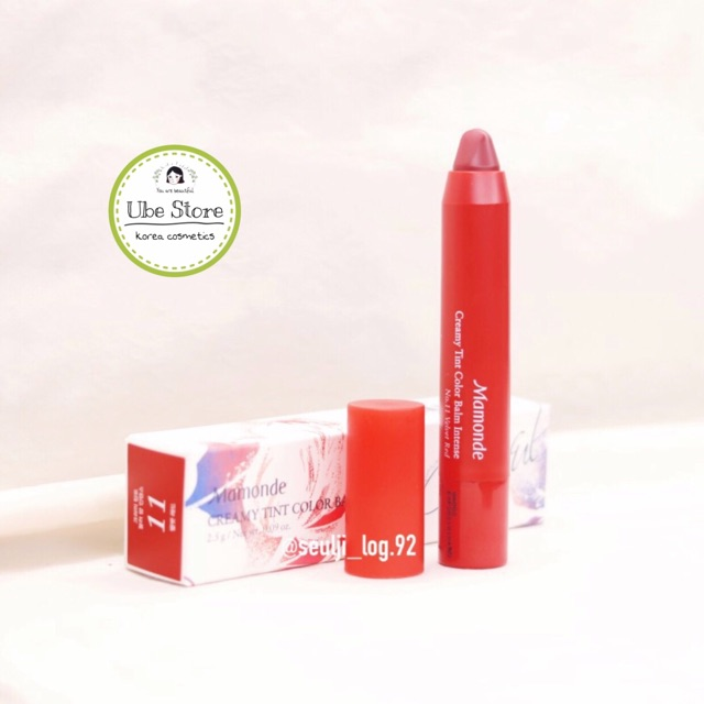 Hình ảnh Son bút chì Mamonde Creamy Tint Color Balm Intense #SALE_OFF_70%