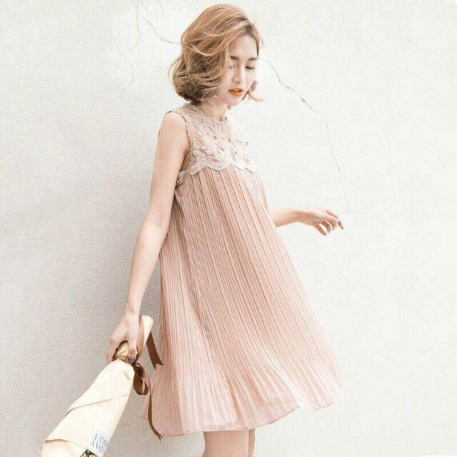 Váy voan phối ren siêu dễ thương